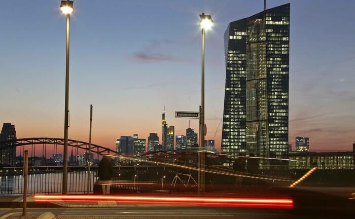 Die Europäische Zentralbank in Frankfurt