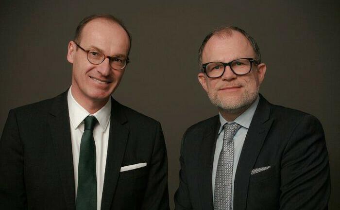 Bilden die Doppelspitze der Pensionskasse: Stephan Meyer (li.) und Frank Oliver Paschen. |© Pensionskasse der Hamburger Hochbahn Aktiengesellschaft