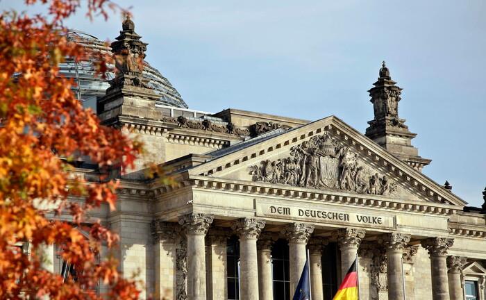 Der Reichstag, Sitz des Deutschen Bundestages