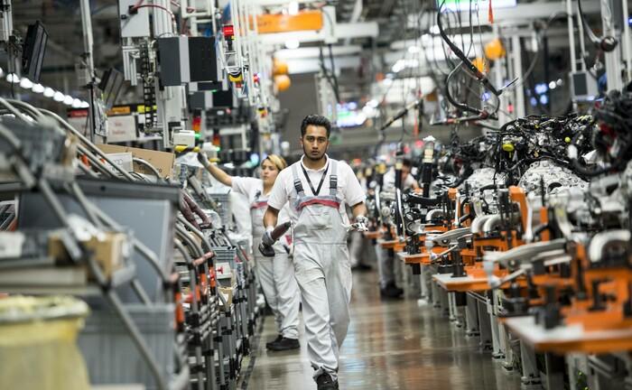 Motorenproduktion bei einem deutschen Autohersteller in San José Chiapa