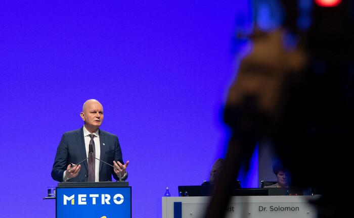 Metro-Vorstandsvorsitzender Olaf Koch bei der Hauptversammlung im Februar 2020