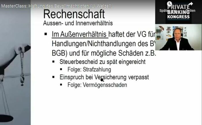 Screenshot aus der Master Class mit Ulrich Welzel