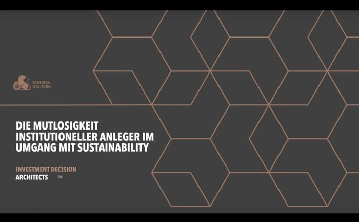 Screenshot aus der Master Class mit Markus Schuller: In dem Online-Seminar ging er der These nach, wie mutlos institutionelle Anleger beim Thema Nachhaltigkeit sind