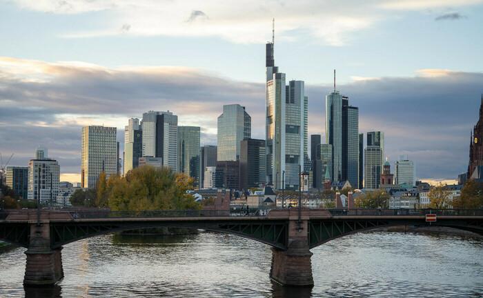 Bankenskyline des Finanzplatz Frankfurt