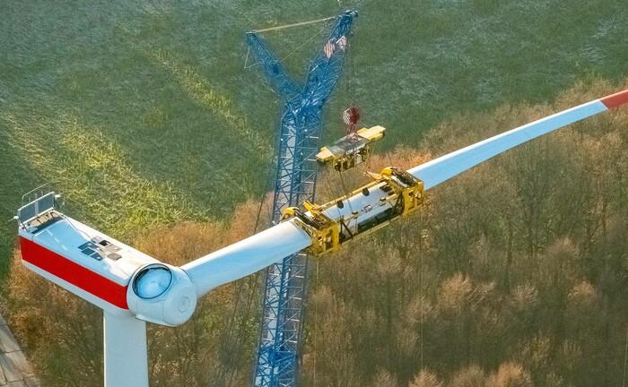 Bau eines Windrads