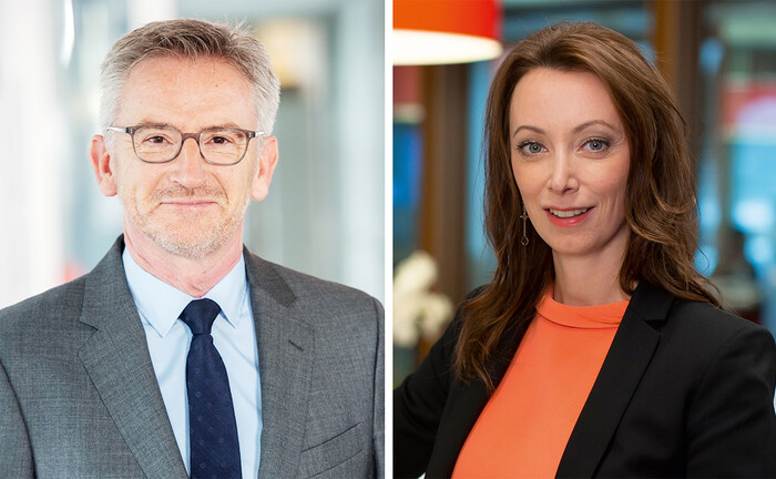 Camille Thommel (Alfi-Generaldirektor), Valeria Merkel (Partner Audit und Co-Leiterin Private Debt bei KPMG)