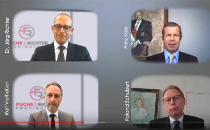 Fürstliche Webcam-Teilnahme beim 17. Private-Banking-Gipfel