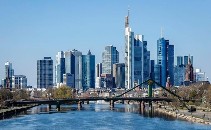 Skyline des Bankplatzes Frankfurt