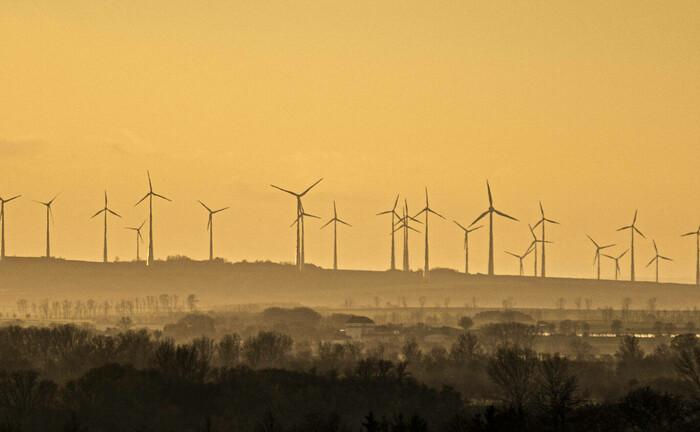 Windräder bei Oschersleben: Umwelt- und andere ESG-Aspekte spielen laut einer UI-Umfrage für immer mehr Institutionelle eine wichtige Rolle bei der Kapitalanlage.|© Imago / photothek