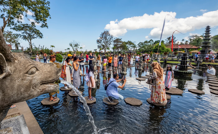 Der Wasserpalast Taman Ujung auf Bali