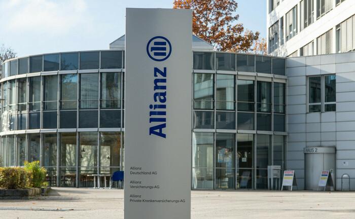 Eingang zum Allianz-Gebäude in München