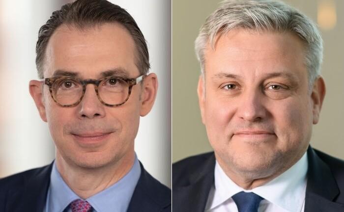 Thomas Rodermann (l.), Chef von Quintet Europe, und Michael Savenay, Chef von Merck Finck in Deutschland: Durch den Zusammenschluss von Merck Finck mit weiteren europäischen Töchtern in der Quintet Europe ergibt sich eine neue Führungstruktur.