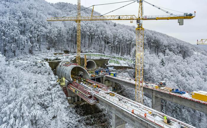 Bau eines ICE-Tunnels in Süddeutschland