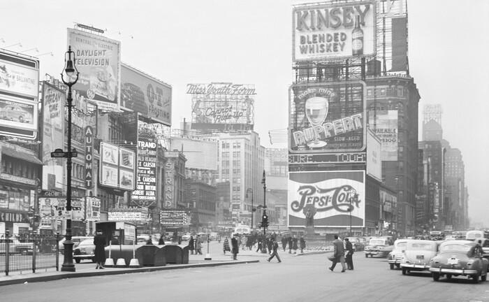 Times Square 1948: Einer Fed-Studie aus jenem Jahr zufolge investierten damals nur 5 Prozent der US-Amerikaner in Aktien. |© imago images / UIG