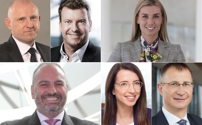 Viel diskutierte Personalien 2020 im Private Wealth Management (im Uhrzeigersinn, beginnend links oben)