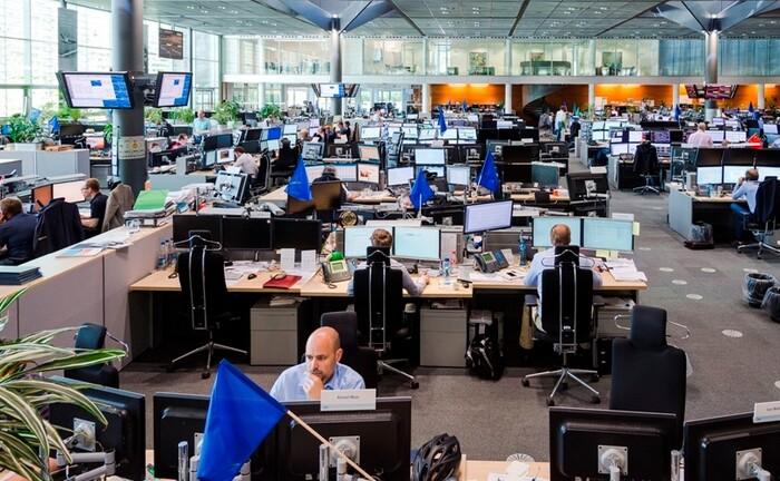 Energiehändler im RWE-Handelsraum
