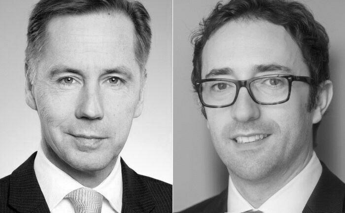 Geschäftsführer Bernd Scherer (li.) und Fondsanalyst Milot Hasaj von der Lampe Asset Management