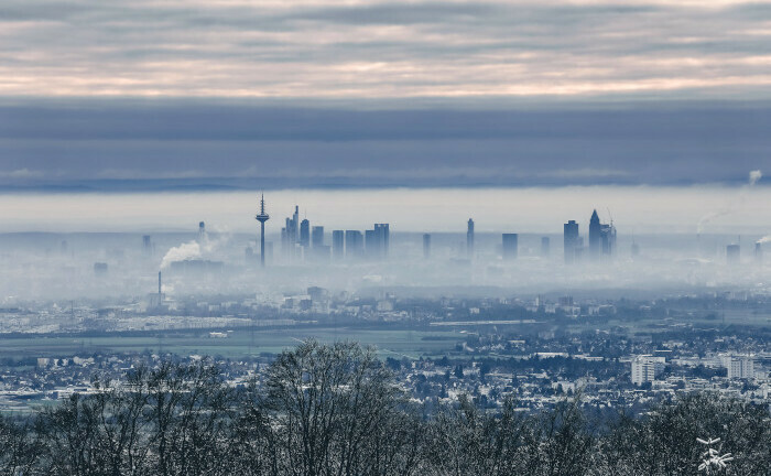 Blick vom Taunus auf die Frankfurter Banken-Skyline