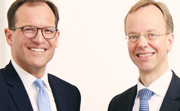 Jakob Matuschka-Gablenz (r.) und Raphael Hartl, beide erfahrene Private Banker