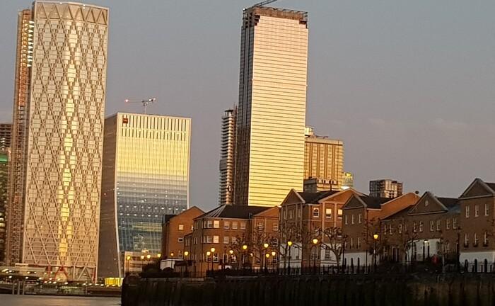 Londons Bürostandorte wie Canary Wharf sind gefragt