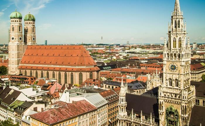 Münchner Innenstadt und Rathaus