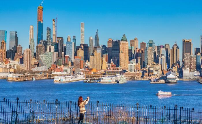 Die New Yorker Skyline ist ein beliebtes Fotomotiv
