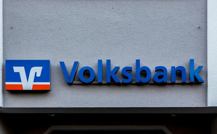 Logo und Schriftzug einer Volksbank