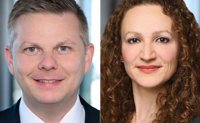 Alexander Eggert, Geschäftsführer von Warburg-HIH Invest, und Iris Hagdorn, Nachhaltigkeitsleiterin des Immobilien-Investmentmanagers