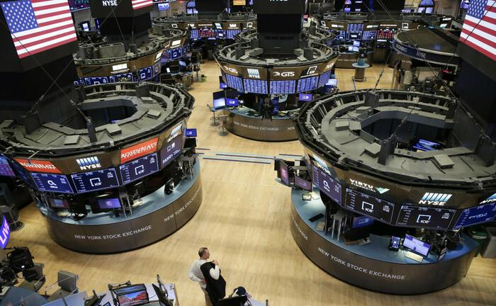 Handelsraum der Wall Street nach Börsenschluss