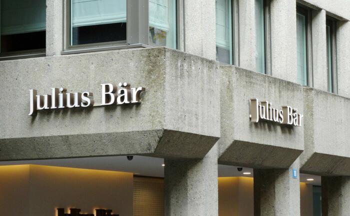 Julius-Bär-Schriftzug in Zürich