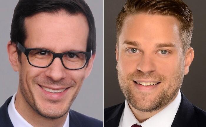 Andreas Zachmann (l.) und Maximilian Lederle, Private-Banking-Entscheider der Oberbank in Deutschland: Zachmann leitet das Private Banking der Region Süddeutschland, Lederle ist seit Februar 2021 sein neuer Stellvertreter.|© Oberbank