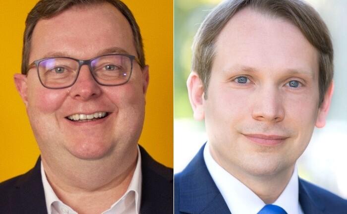 Stephan Kleiber (l.) und Roman Stüve, neues Führungduo der Commerzbank im Berliner Süden