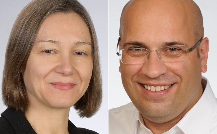 IBM-Beraterin Heidi Bartz und A. Ilker Uzkan von IBM iX, der Digitalagentur von IBM