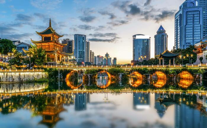 Tradition und Moderne im südwest-chinesischen Guiyang