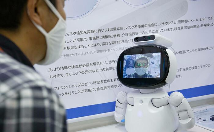 Roboter auf einer Messe in Japan