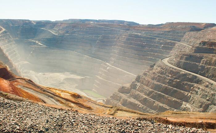 Eine Goldmine in Australien