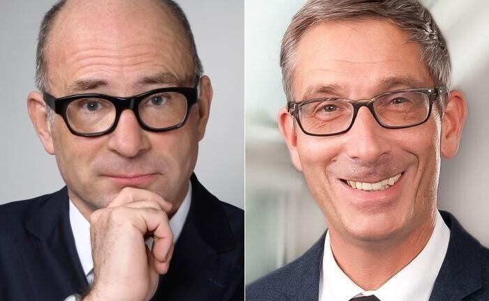 Volker Boehme-Neßler (li.) und André Schmidt von der WSH Deutsche Vermögenstreuhand