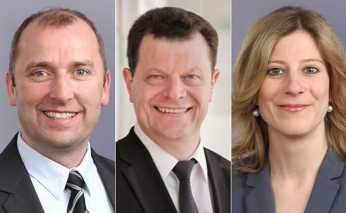 Volker Tracht (li.), Werner Schönfeld und Johanna Isenborth von der Vermögensverwaltung Klarwert