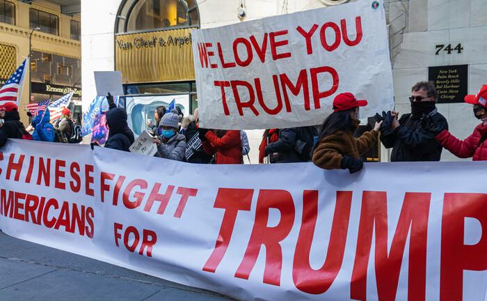 Anhänger von Ex-US-Präsident Donald Trump: Globalisierungsgegener wie sie, sind ein Risiko für Anleger|© Imago Images / Pacific Press Agency