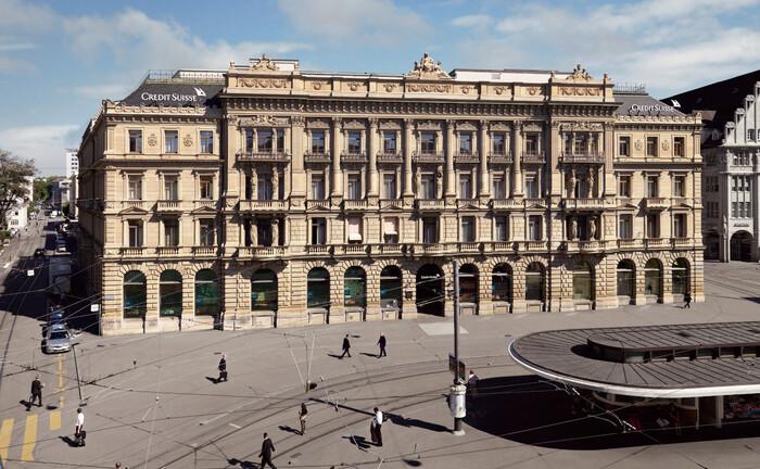 Zentrale der Credit Suisse am Zürcher Paradeplatz: Die Schweizer Bank stellt als Folge des Greensill-Debakels ihr Asset Management unter neue Leitung und verordnet der Einheit mehr Eigenständigkeit.|© Credit Suisse