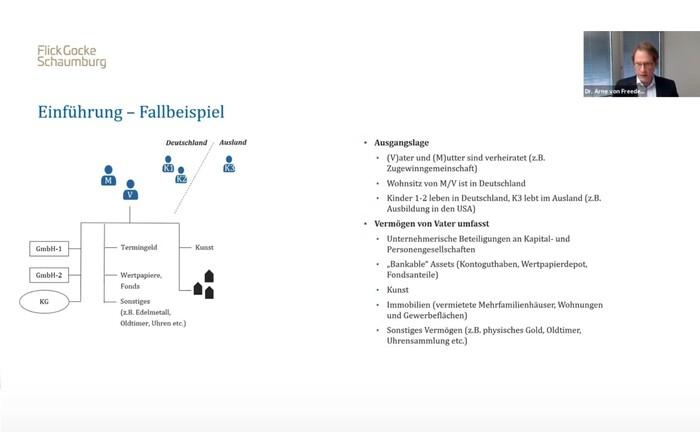 Screenshot aus der MasterClass: Die Struktur des Familienvermögens