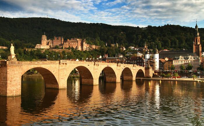 Altstadt von Heidelberg mit Schloss und Alter Brücke