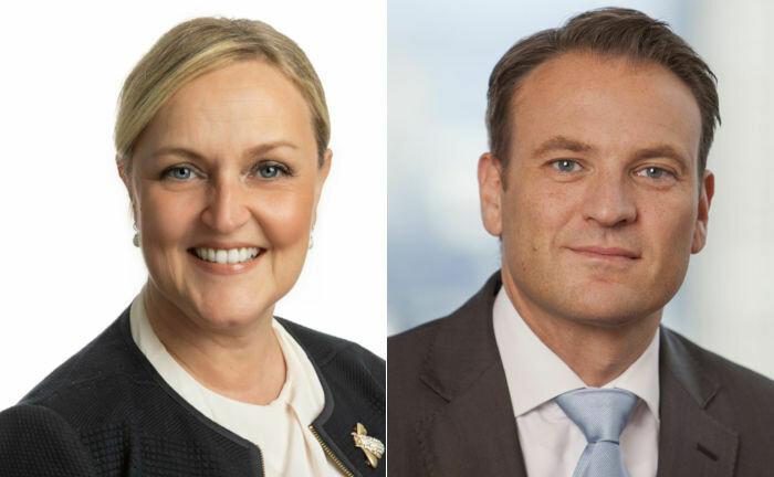 Sonja Albers und André Haagmann: Im März 2022 werden sie in den Vorstand von Union Investment einziehen.|© Union Investment