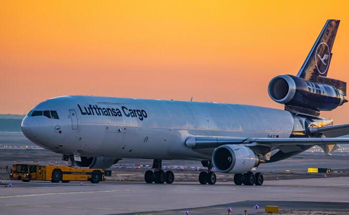 Ein Transportflugzeug der Lufthansa