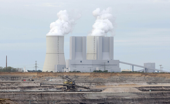 Ein Braunkohlekraftwerk in Sachsen