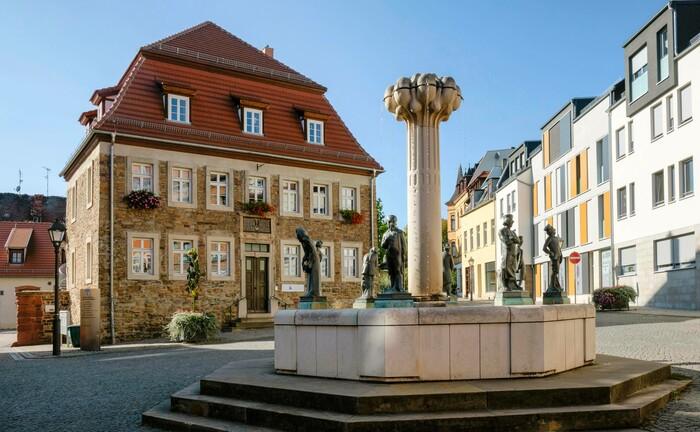 Der Knappenbrunnen in Lutherstadt Eisleben