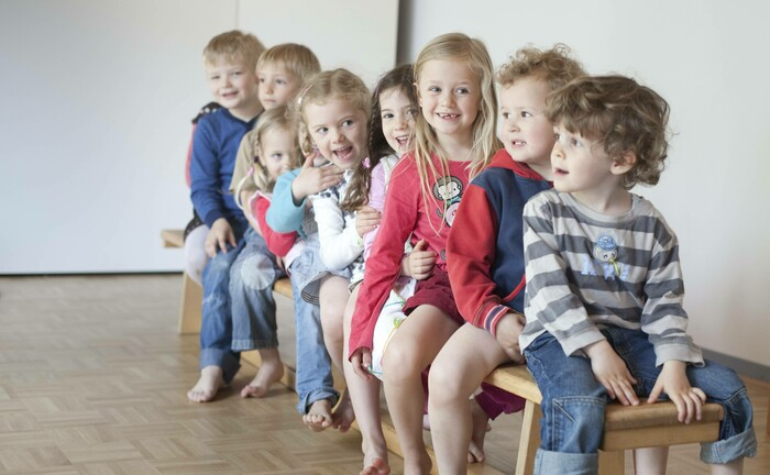 Kinder in eine Kita in Köln