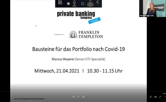 """Screenshot aus der Master Class: """"Bausteine für das Portfolio nach Covid-19"""""""