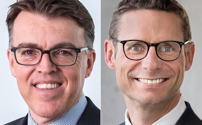Armin Eiche (l.) und Achim Siller von  Pictet Wealth Management in Deutschland sprechen über lohnende Alternativen zu festverzinslichen Wertpapieren.