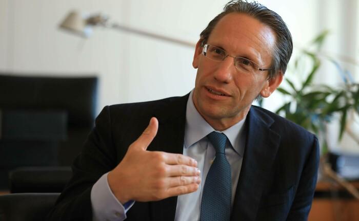 Jörg Kukies: Der Staatssekretär im Bundesministerium für Finanzen sprach bei der Konferenz des BAI|© Imago Images / Tagesspiegel